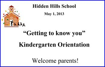 2013 Kinder Orientation PPT